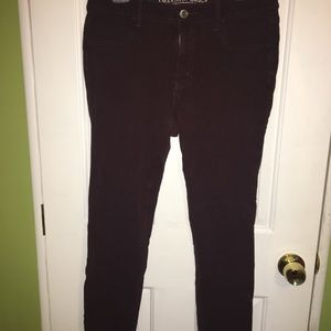 American Eagle Burgundy Jeggings - size 12 regular